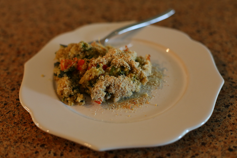 Spinach and quinoa casserole